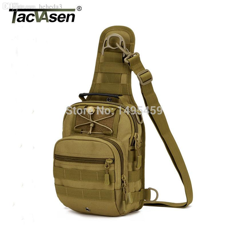 Camping & Hiking Military Tactical Chest Pack Fly Equipment Nylon Wading Chest Pack Cross Body Sling Single Shoulder Bag Climbing Bags