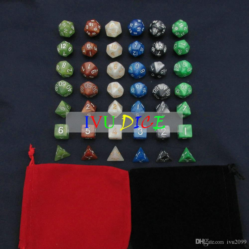 DND Table BOARD GAME Dungeons&Dragons Magic Colors White Black Green Blue Brown Army green bosons Party Children dices IVU