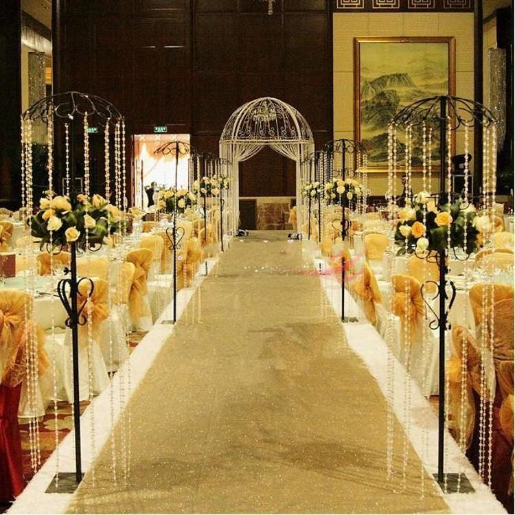 14 M 10 M Shiny Pearlescent Wedding Carpet Aisle Runner T