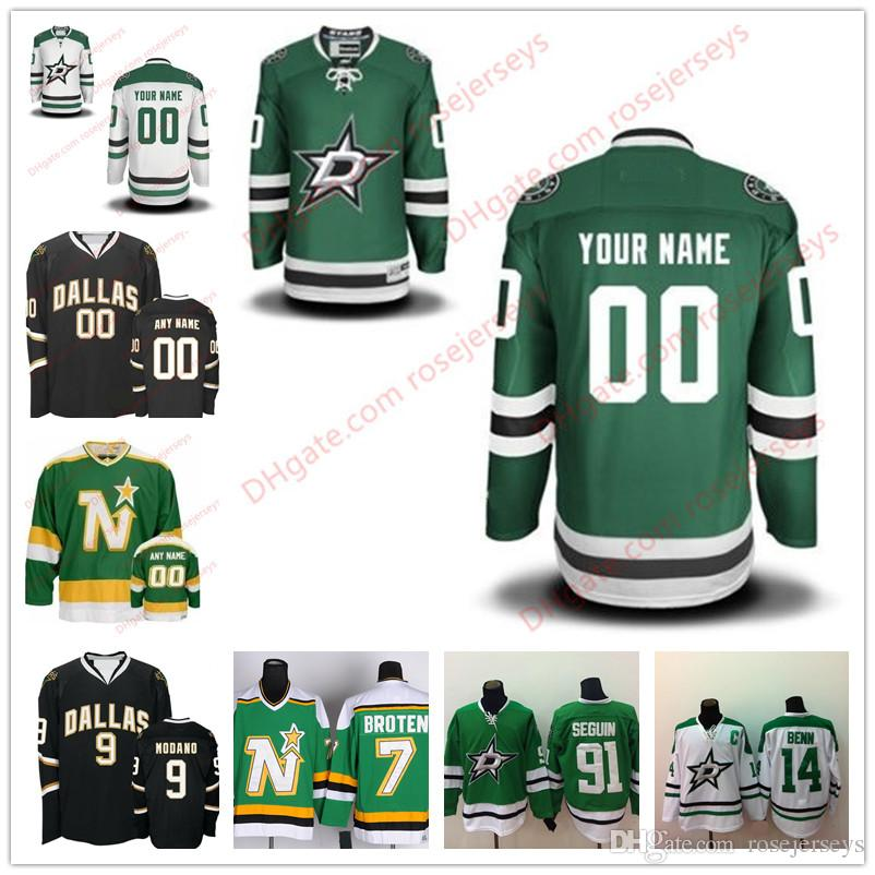 factory price 07684 1c521 Stitched Custom Dallas Stars Custom mens womens youth OLD BRAND Green White  Black Personalized Customized Vintage hockey cheap Jerseys S-4XL