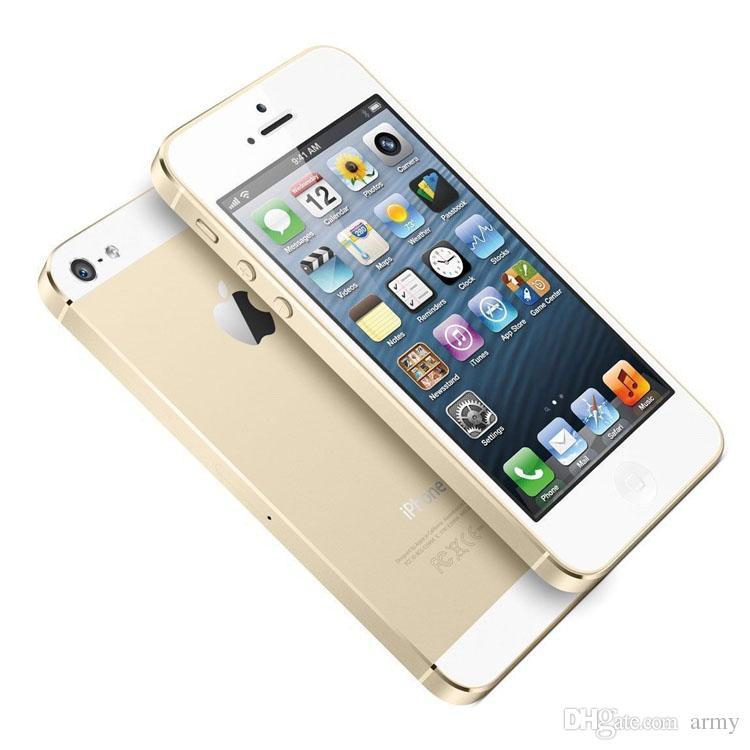 Orijinal Yenilenmiş Apple iPhone 5 iPhone5 Smartphone RAM 1G 16 GB / 32 GB / 64G WIFI 3G GPS Mühürlü kutu içinde