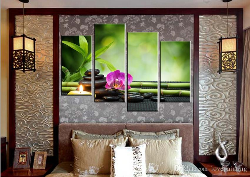 Unframed on Canvas Prints Home decoration Sphinx mountain flower grass Brooklyn Bridge candle orchid Bamboo butterfly
