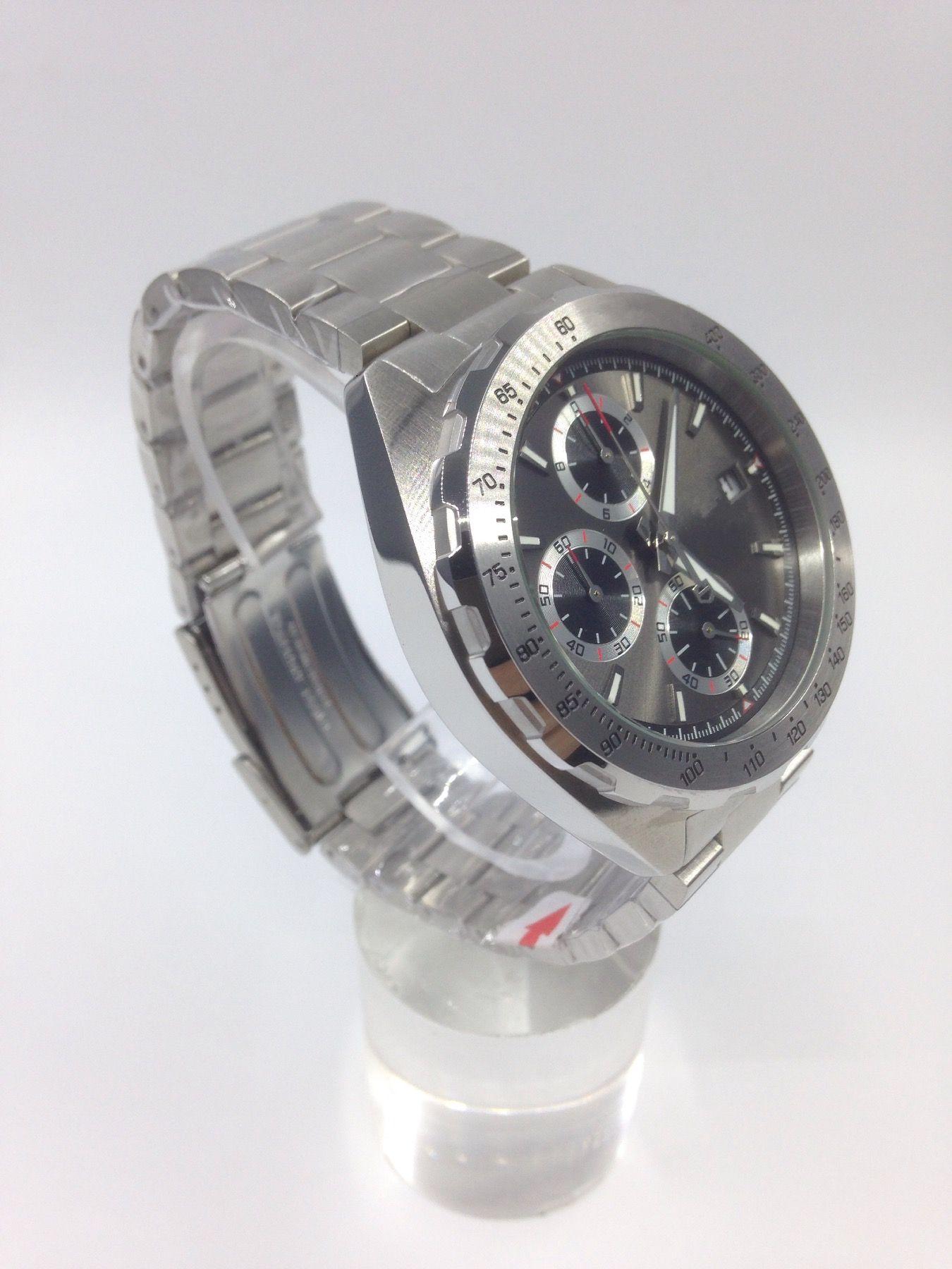 사치 유리 높은 qality 스테인레스 스틸 쿼츠 시계 쿼츠 크로노 그래프 시계 남자 시계 제한 시계 시계 01