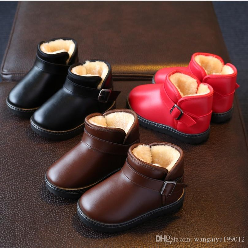 2017 winter plus velvet children's shoes children's waterproof snow boots boys and girls non-slip warm children's shoes