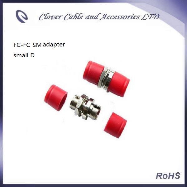 Adaptateur de bride à fibre optique monomode D de bonne qualité et conforme RoHS FC-FC