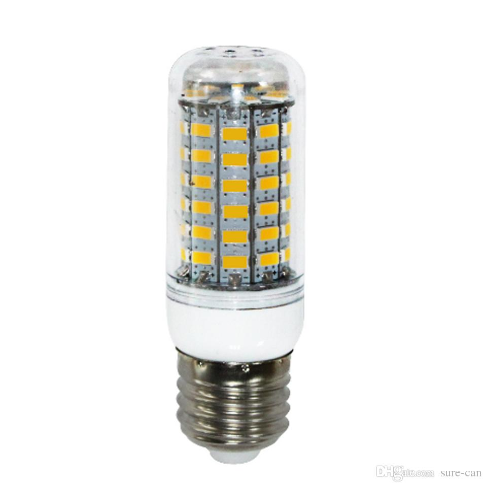 Cheap LED Corn Light E27 LED Bulb Chandelier Candle 24 36 48 56 69 SMD 5730 5630 With Cover E26 GU10 E14 B22 G9 Warm White DHL