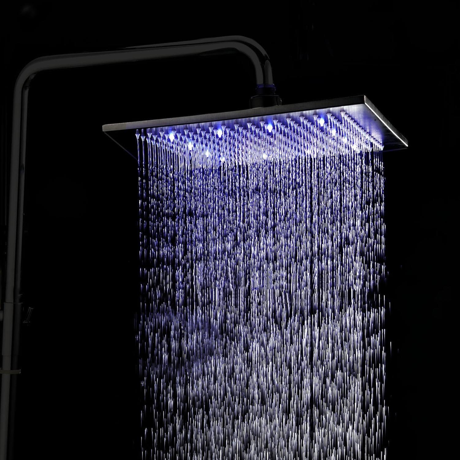 oil rubbed bronze led rain shower head. See larger image 2017 16inch Oil Rubbed Bronze Led Rain Shower Head Rgb Changing