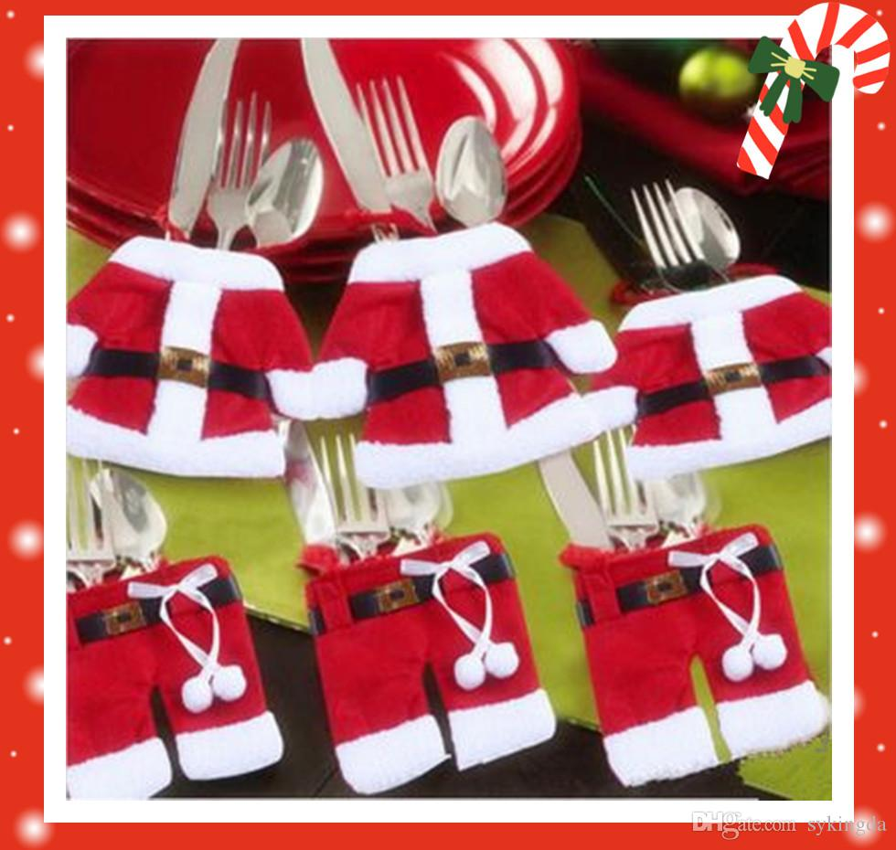 decoration santa rbvajflcjy favor forks xmas claus hot discount navidad product sales supply christmas spoon indoor sale hat mini party decorations craft dinner ornaments decor