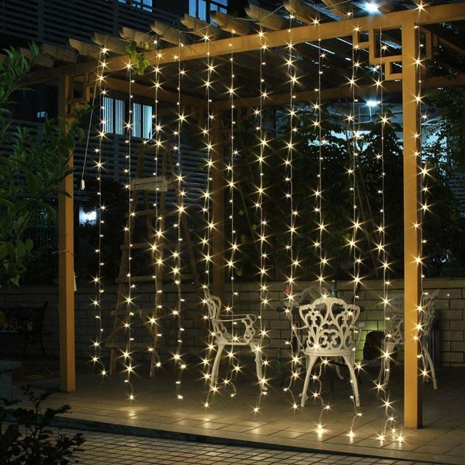 3m X 300 Led String Curtain Light Outdoor Party Christmas Festiva Fairy Wedding For Choice 110v 220v Patio Lighting Color