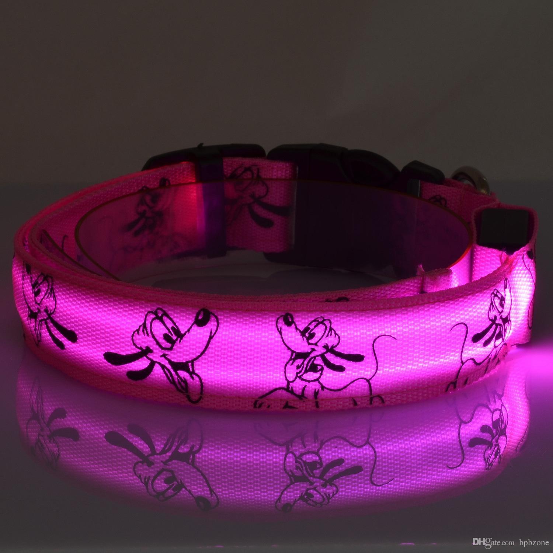 Pluto Fiber LED Flash Pet Collar Ultra Flash Dog Collar Pet Leashes TPU Dog Suppliers