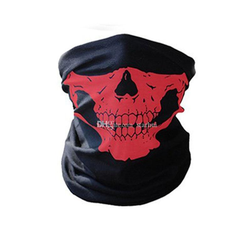 New Skull Face Mask Outdoor Sports Ski Bike Motorcycle Scarves Bandana Neck Snood Halloween Party Cosplay Full Face Masks WX9-65