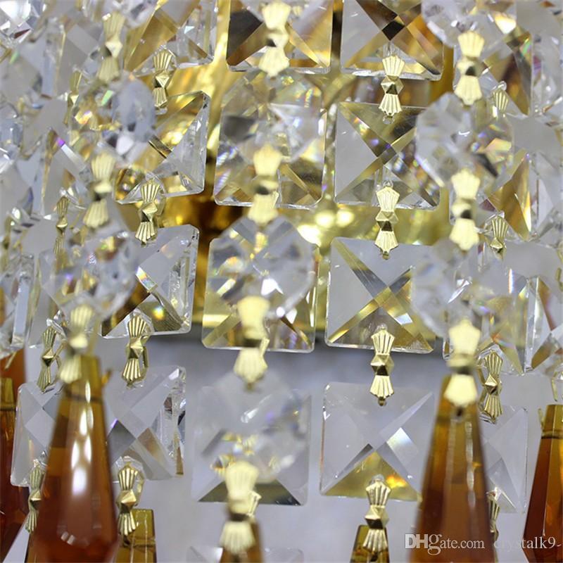 Nacht Moderne Kurze K9 Kristallleuchter Wohnzimmer Hotel Bar Gang Wandleuchten Kreative Kunst Kristall Wandleuchte