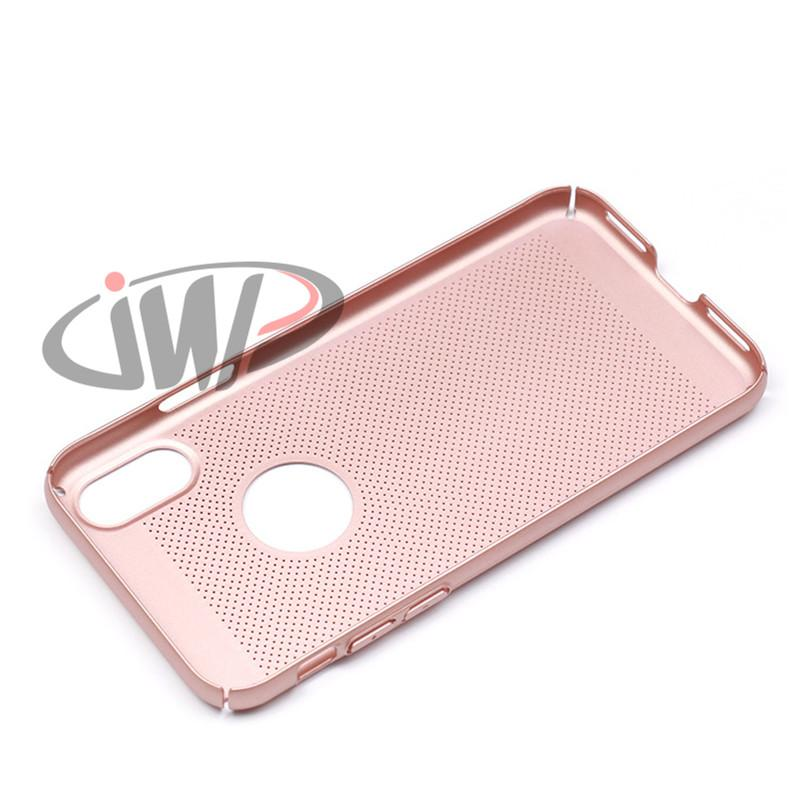 For iPhone X 8 7 Plus Mesh Dot Hard Phone Case Matte Phone Back Protective Cover for Samsung Galaxy Note8 S8 Plus