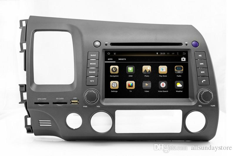 Android 7.1 Car DVD Player for Honda Civic 2006 2007 2008 2009 2010 2011 with GPS Navigation Radio BT USB WIFI Stereo