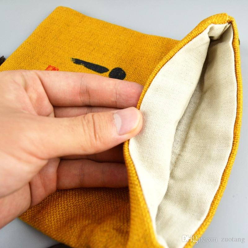 Sacchetti del regalo del partito della tela di cotone delle piccole di Lino delle borse cinesi grandi del pacchetto del sacchetto di immagazzinaggio decorativo del sacchetto del cordone di alta qualità