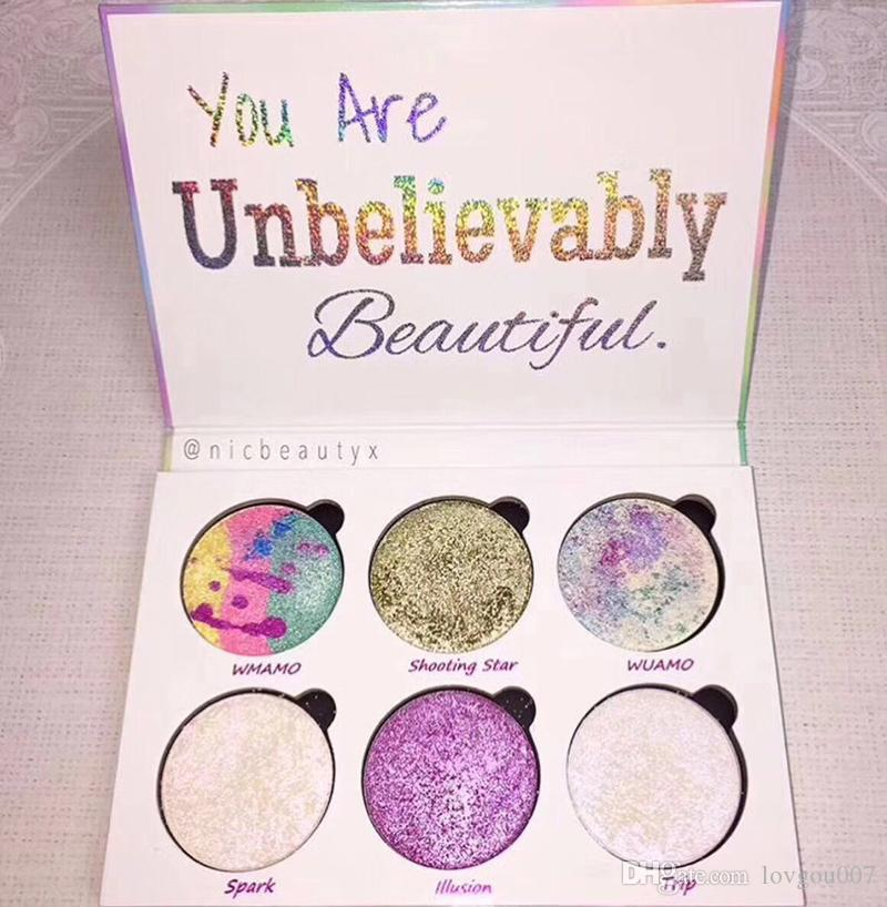 Love Luxe Beauty Fantasy Palette Makeup You Are Unbelievably Beautiful highlighter 6 Colors Eyeshadow hot sell