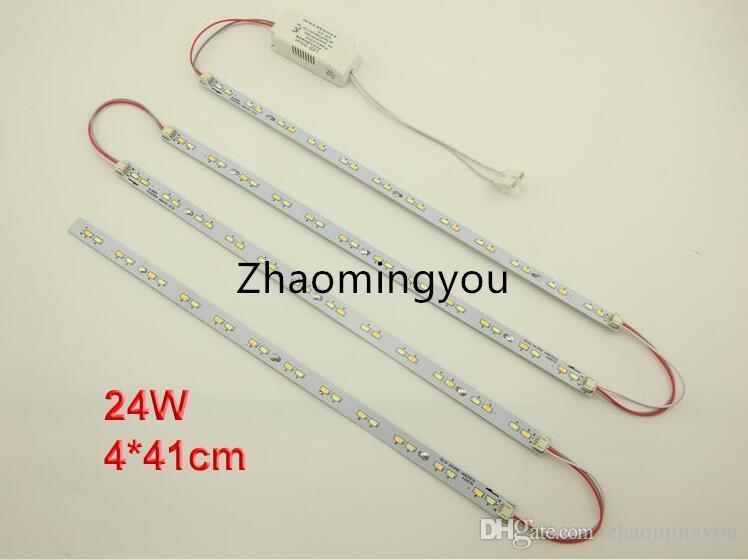 1830W 24W 41cm 220V haute luminosité, barre de LED tube de LED, source lumineuse de la lampe de plafond LED, avec driver de puissance + support magnétique.
