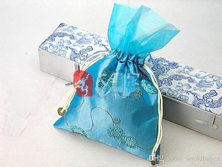 En gros pas cher charme chinois sac à main en soie bijoux Jewerly