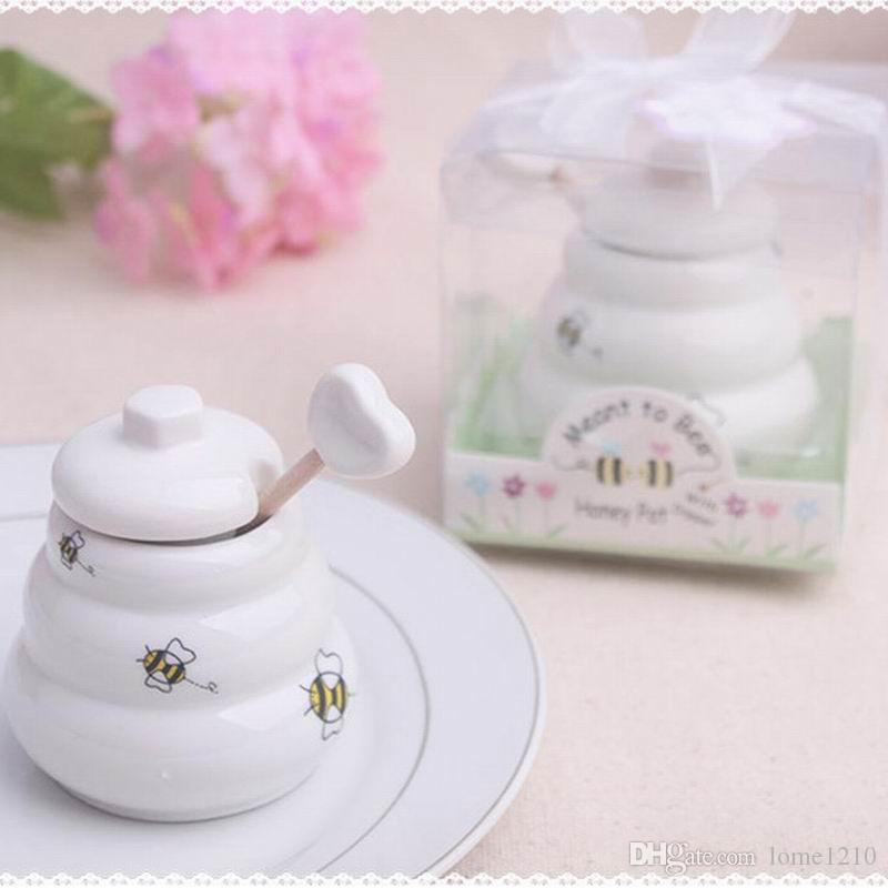 شحن مجاني 100 قطع أدوات المطبخ السيراميك يعني أن النحل عسل جرة عسل تفضل الزفاف ، استحمام الطفل تفضل