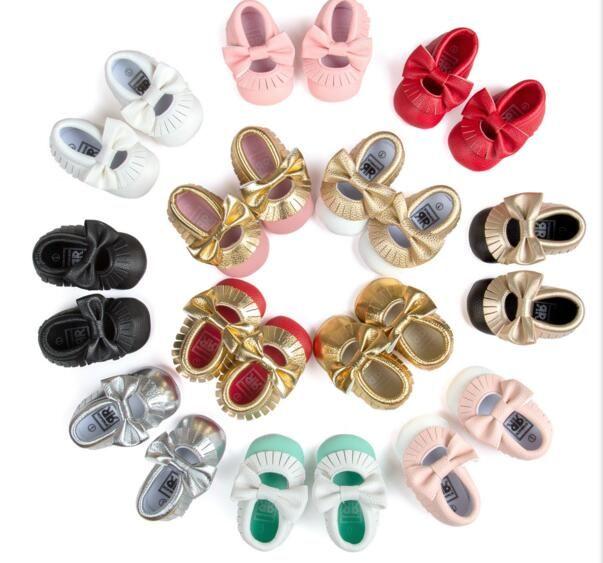 أحذية أطفال الأخفاف لينة وحيد أحذية جلدية الرضع الفتيات الفتيان Moccs الطفل الأول مشوا أطفال الأطفال الأحذية