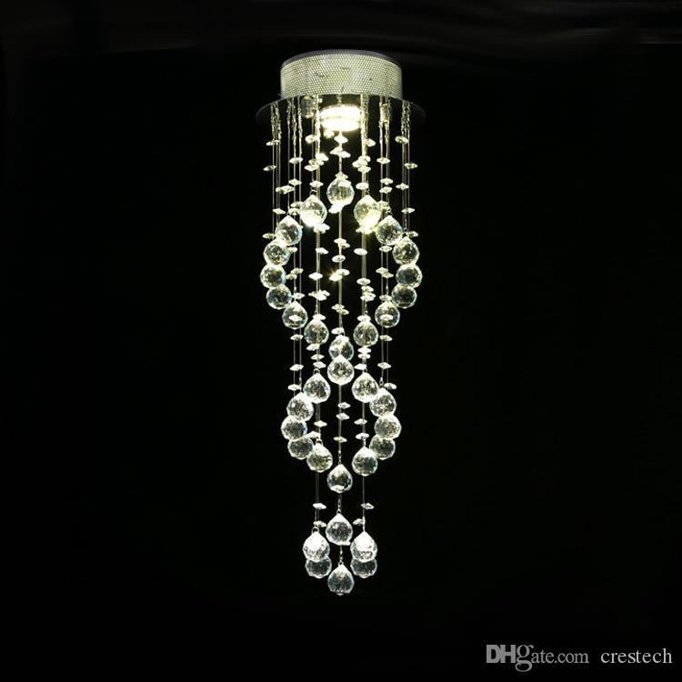 Modern pendant lighting Ceiling Lighting crystal ball chandelier Spiral Drop crystal chandeliers Stair Lights for Staircase