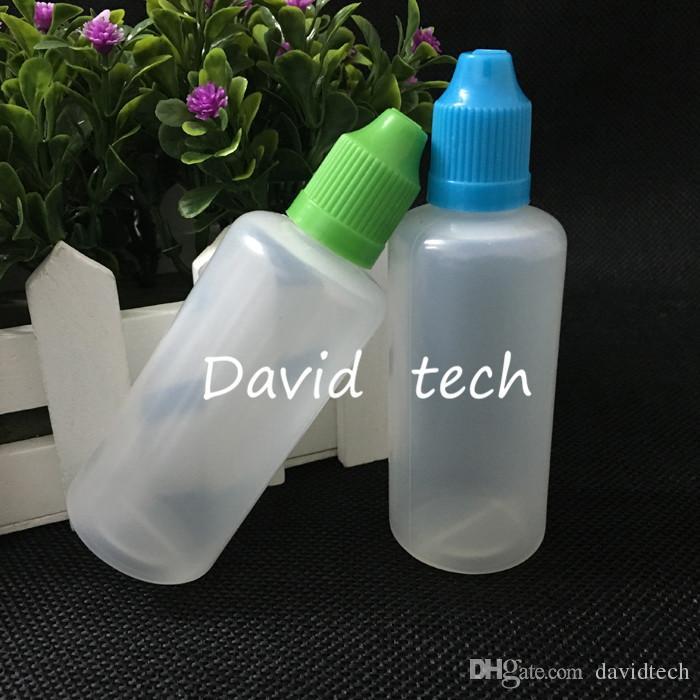 Atacado de plástico conta-gotas do frasco 60ml macia frasco com tampa de segurança para crianças Para E Cig líquido Bottle Packing