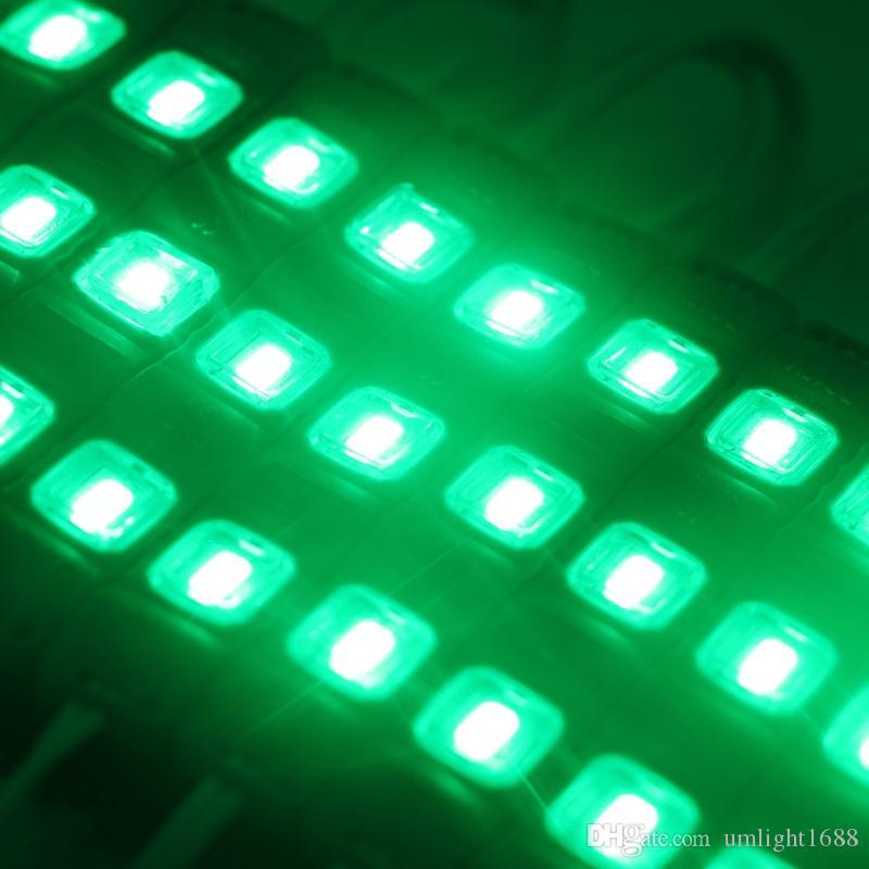 5730 الصمام 3 حقن + عدسة صب MODULE ماء دافئ الأبيض النقي الأبيض أحمر / أخضر / أزرق / أصفر فاتح لDC 12V