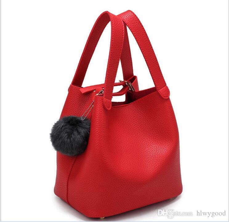 694e76c9753ec0 Wholesale- 2016 New Women's Handbags Top Quality Genuine Leather ...
