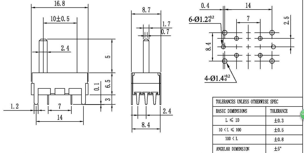 Japan Echte Alpen Volume Equalizer Straight Slide Potentiometer B503 B50K-versterker Auto-accessoires