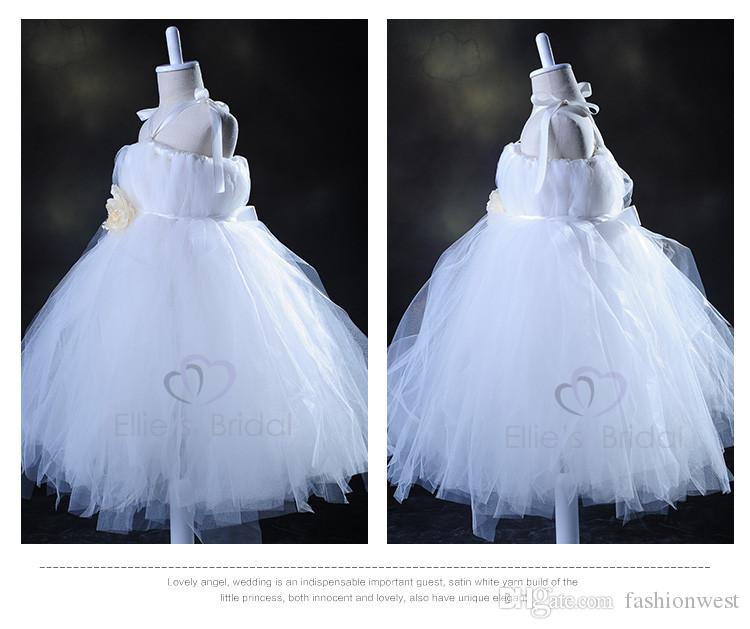 Princess Dresses Flower Girls Dresses Girls Evening Dresses Performance Dresses Ivory White Lace Strapless Pageant Party Prom Children Dress
