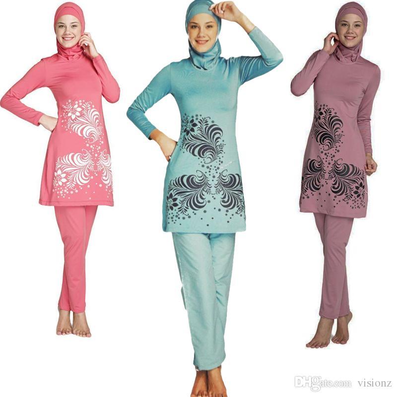 Bien connu Top Quality Maillots De Bain Musulman Islamic Swimsuit For Women  GE98