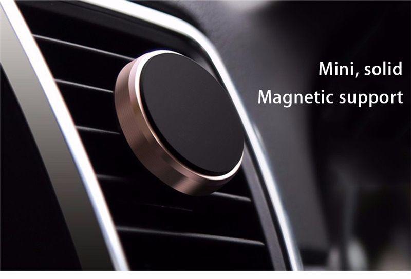 Suporte magnético universal do telefone móvel do respiradouro de ar para o suporte magnético do carro do iPhone 7 6 Samsung S8