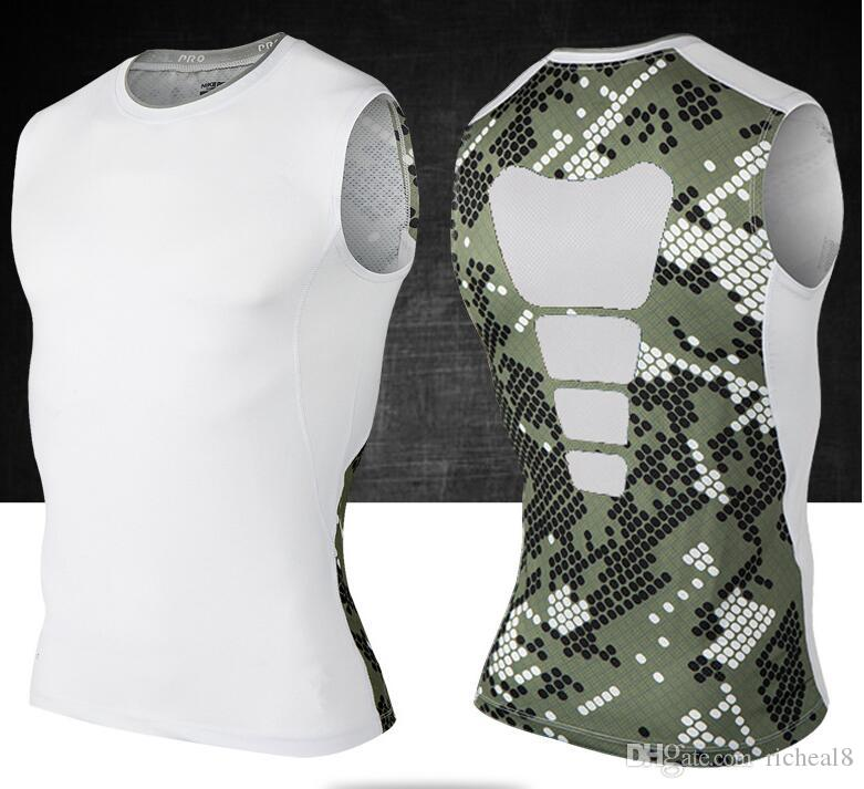 for victor camo shirts Elite, tight clothing, sports protective vest stretch breathable speed dry compression tights camisetas