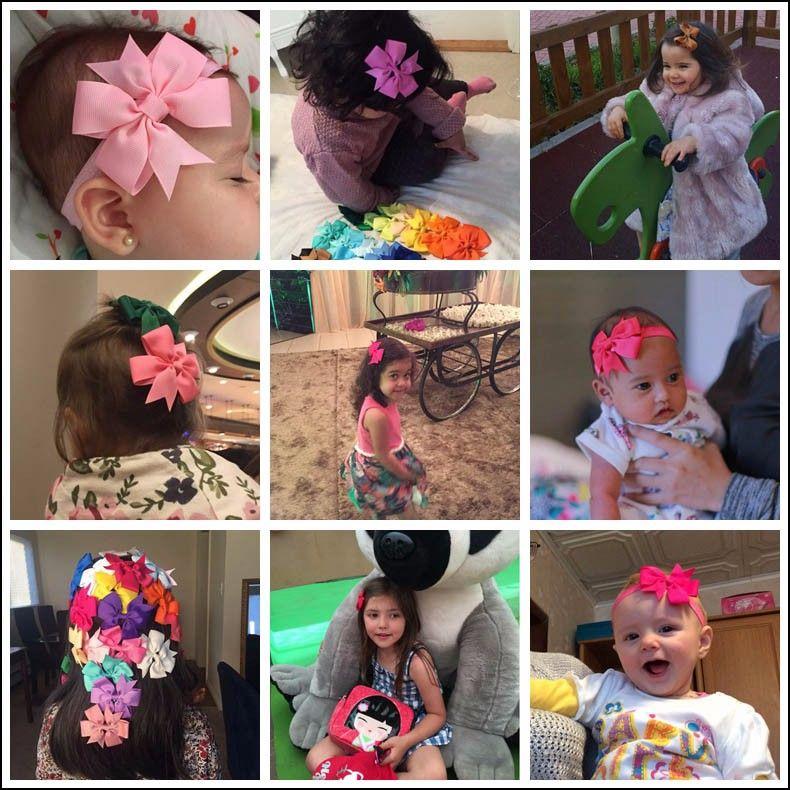 Nishine 3 Inç Kızlar Şerit Yay Klipleri Kız Tokalar Timsah Metal Saç Yaylar Klip Şapkalar Kız Hairbows Saç Aksesuarları