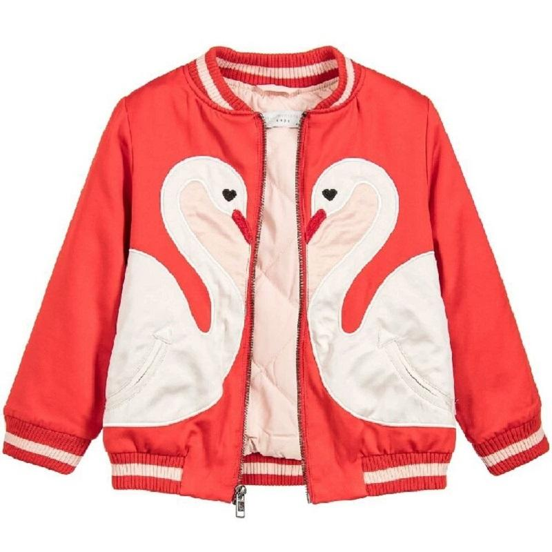 0e3aeac2f Baby Girls Jackets Autumn Cartoon Embroidery Kids Outwear Baseball ...