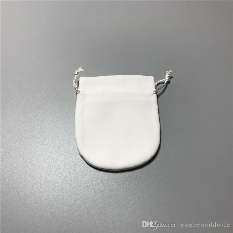 Factory Price White Replacement Jewelry Pouches Bags For Pandox Charm Bead Necklace Earrings Ring Pendant Packaging New Arrival