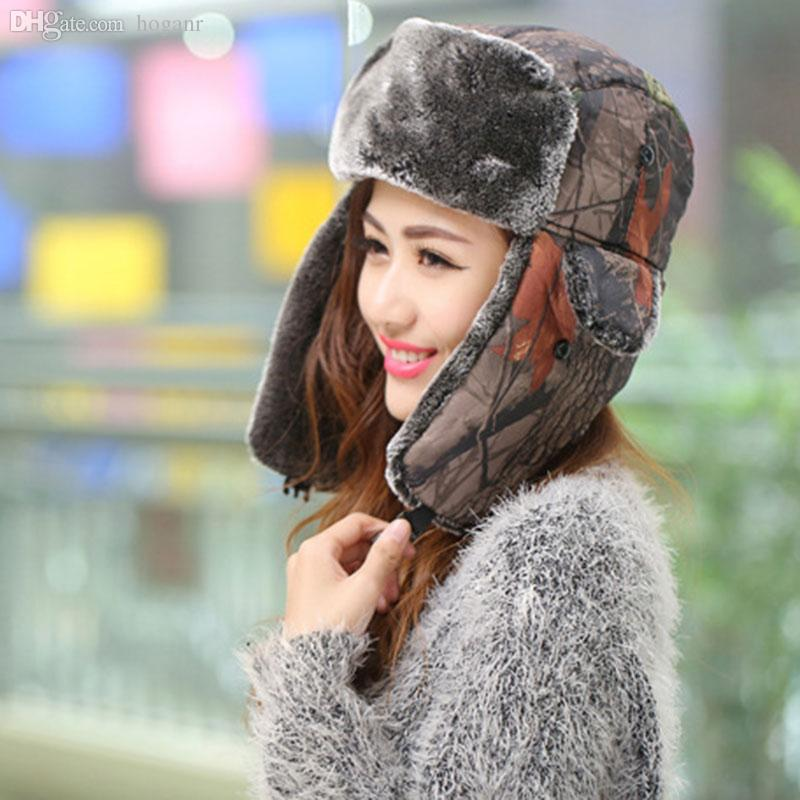 2364d9e4af270 2019 Wholesale New Winter Hats For Women Bomber Hat Fur Hat With Ears Cap  With Ear Flags Russian Hat Gorras Chapeu Snow Caps Earflap Cute 3 From  Hoganr