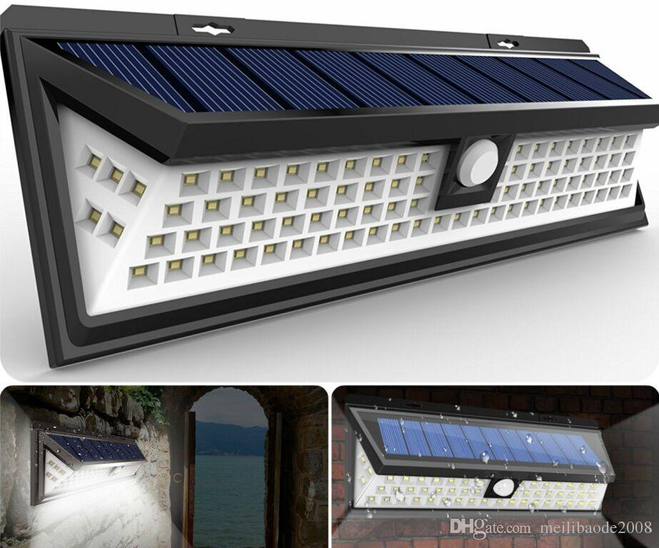 Shop solar lamps online 54 led solar motion sensor light outdoor shop solar lamps online 54 led solar motion sensor light outdoor wall lamp waterproof solar powered light with 3 intelligent modes 3 leds both side for aloadofball Choice Image