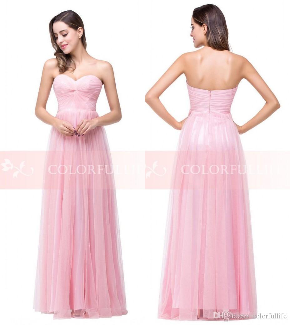 Compre 2016 Pink Pearl Beach Junior Vestidos De Honor Amor Atractivo ...