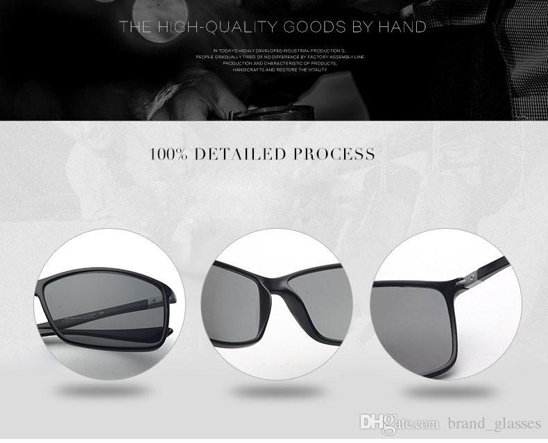 Al por mayor - Venta caliente Gafas de sol Hombres Mujeres Deporte al aire libre para pescar Gafas de sol de conducción uv400 Goggle con brwon casos y caja
