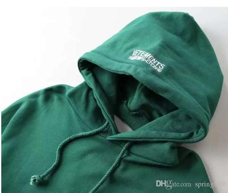 hiphop streetwear abbigliamento urbano kpop abbigliamento kanye west box felpa con cappuccio 3in 1 Vetements polizei twisted felpe reversibili top