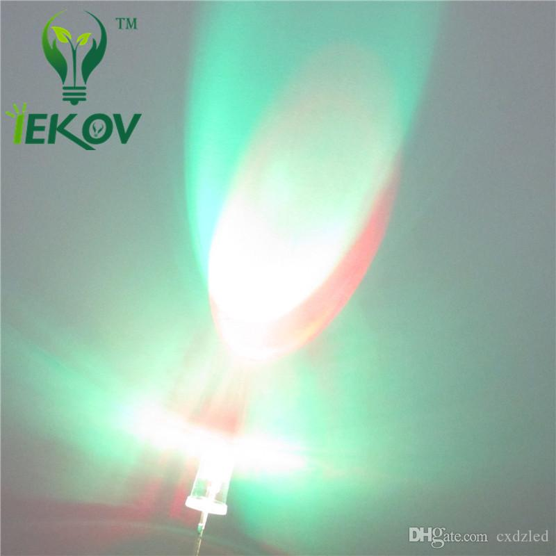 /bag LED 5MM Slow RGB Flash Red Green Blue Rainbow MultiColor Round Strobe Emitting Diodes LEDs Lamp LIGHT Active Components Hot Sale