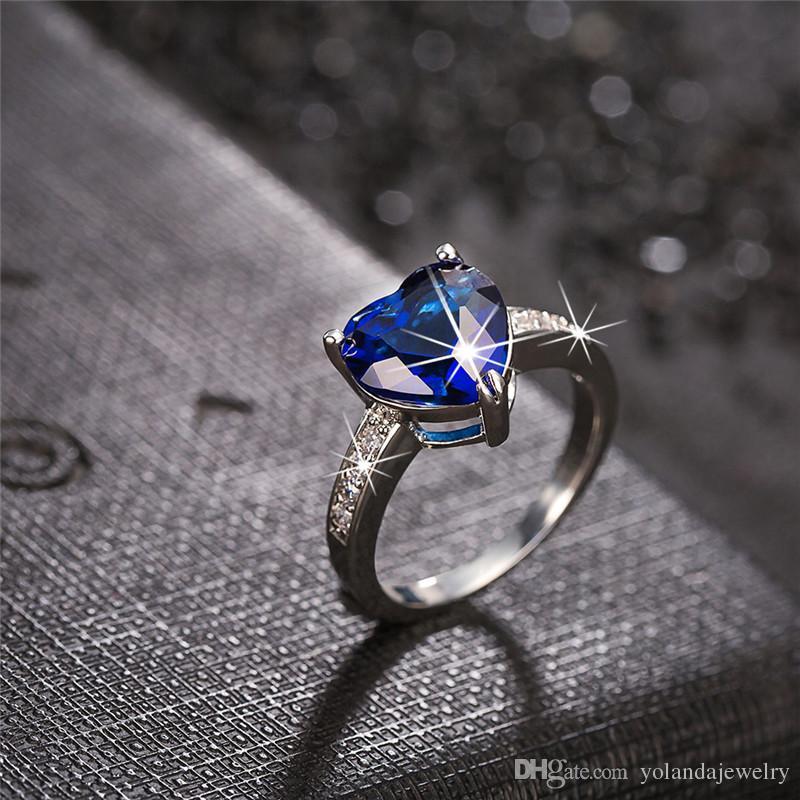 Princesa diana anel kate princesa diana william safira anel de noivado casamento jóias de casamento para senhora mulheres românticas presentes