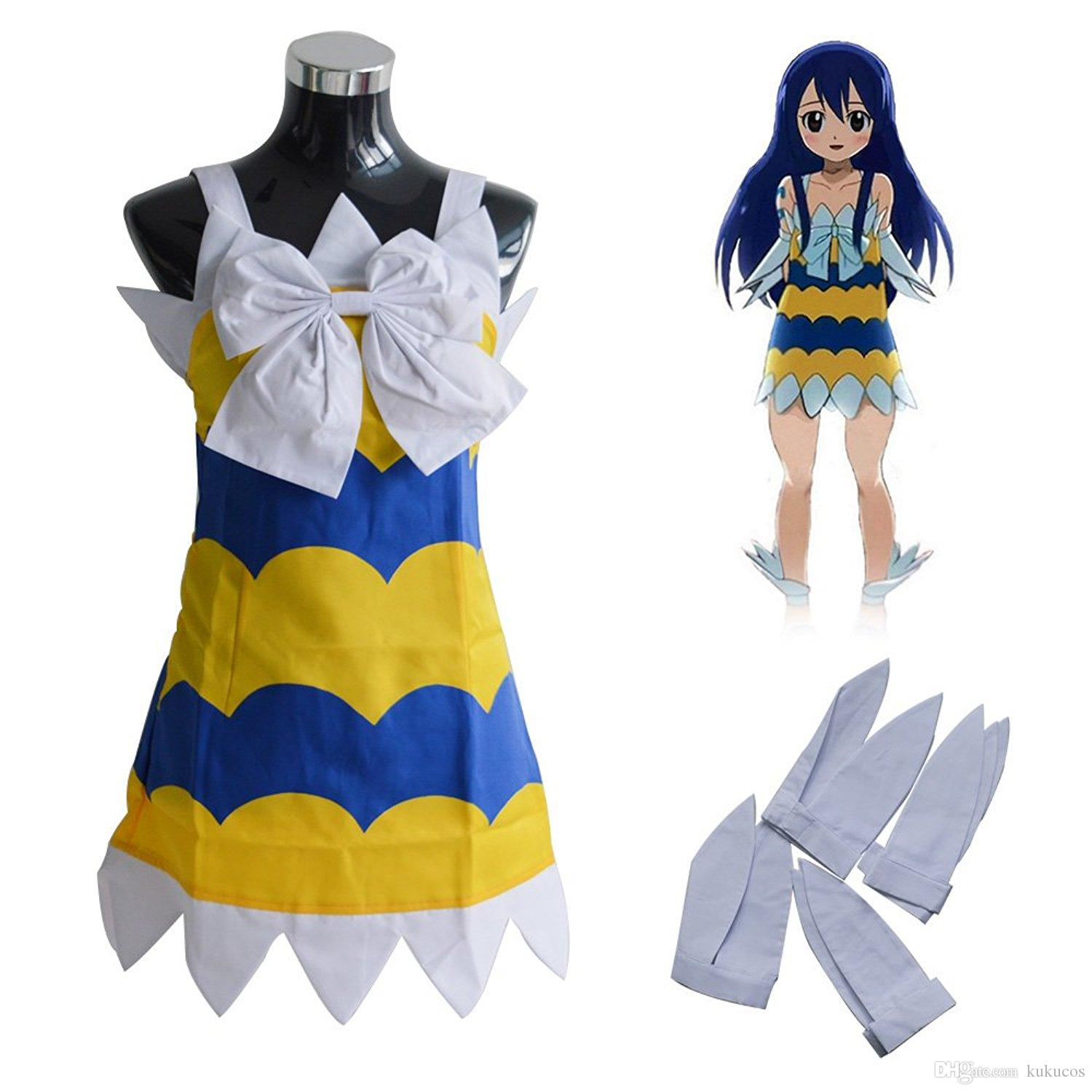Kukucos Anime Women S Fairy Tail Wendy Marvell Lovely Girls Dress