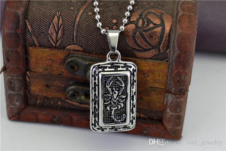 Europe united states restore ancient ways the scorpion domineering europe united states restore ancient ways the scorpion domineering scorpio pendant necklace men a substituting titanium steel jewelry free scorpio necklace aloadofball Images