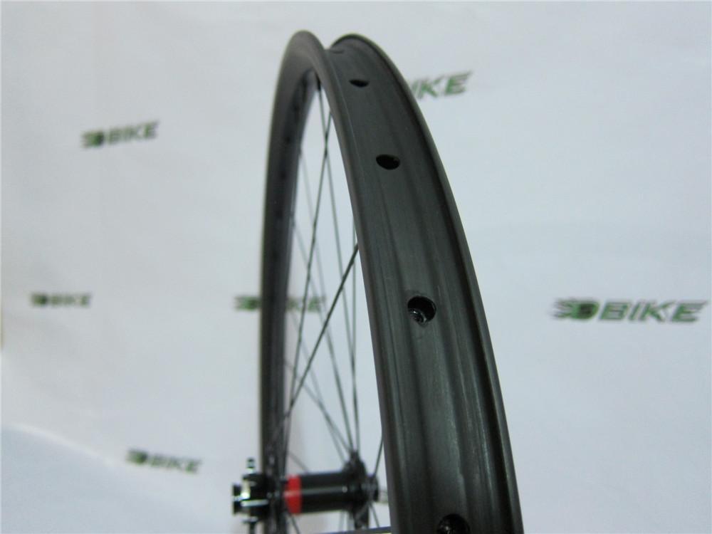 16dd95f22d2 New 29erx40mm Width DH Carbon Wheelset Hookless 32mm Depth Front M15 Thru  Rear 142mm X12 SUPER Strong MTB Carbon Wheels Bike Wheel Parts 24 Bike  Wheels From ...