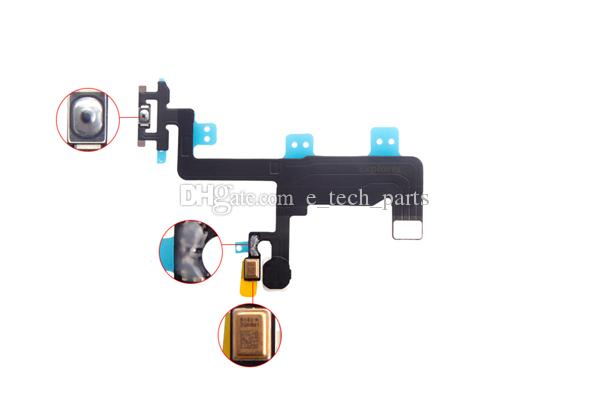 iPhone 6 4.7 inç iPhone 6 artı 5.5 inç için Açma Kapama Düğmesi Anahtarı Flaş Flex Kablo Tamir Parçaları