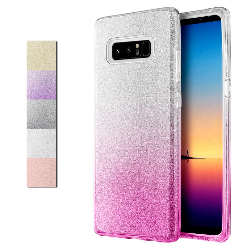 For Samsung Note 8 Luxury Glitter Bling Case TPU Gel Gradient Dazzle Shiny Phone  Cover For Galaxy Note8 Protective Cell Phone Cases Reiko Cell Phone Case ... 5de789813