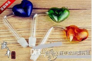 Cor retangular coração queimam pote, cor entrega aleatória, atacado acessórios de vidro hookah, acessórios de bong, frete grátis, grande melhor