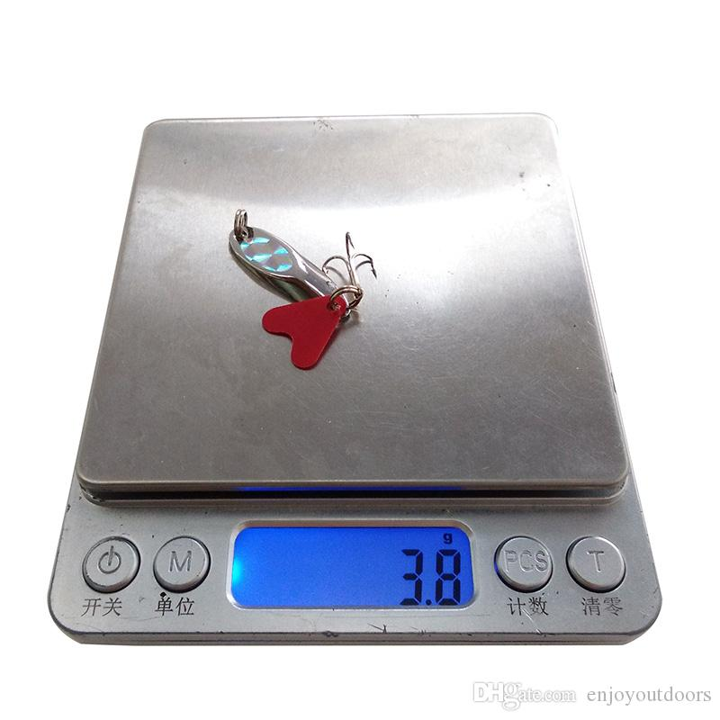 10 قطع 3 جرام الصلب ملاعق الصيد السحر الصيد المالحة الصين الفضة الرقصة تروت سبينر بيت شفرات الصيد المتذبذب